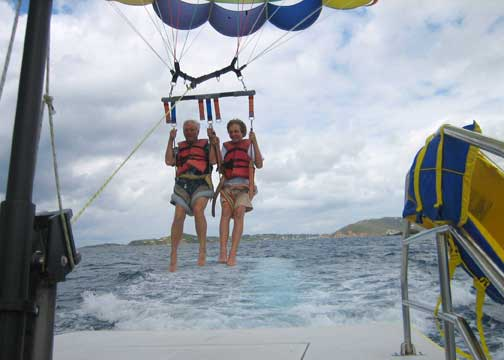 Parasailing from St John