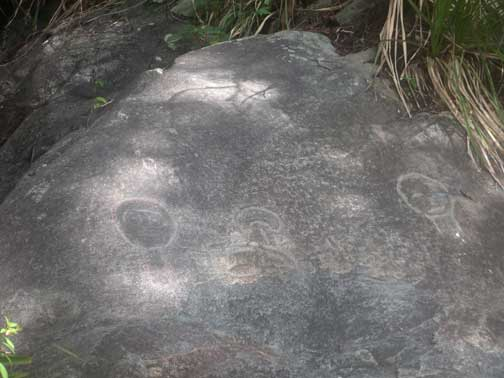 Petroglyphs on Reef Bay Trail, St John