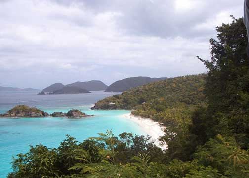 Trunk Bay, one of St John's most popular North Shore beaches