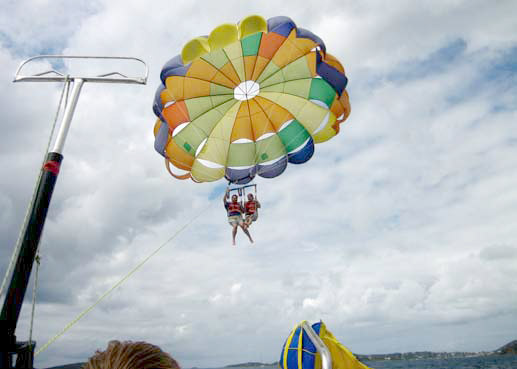 Parasailing in the USVI